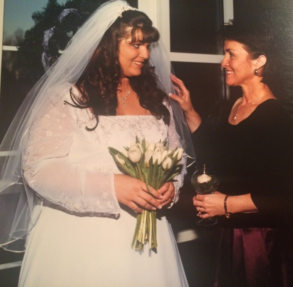 Kelly on her Wedding Day before beginning her low-to-no carb lifestyle